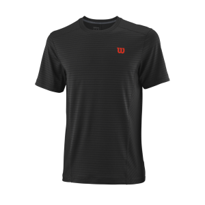 T-shirt de ténis Competition M UWII Linear Crew Mens Black ProStaffRed