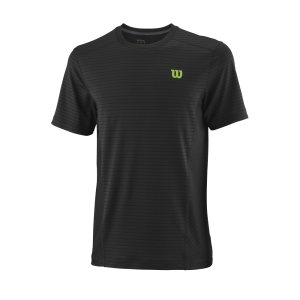 T-shirt de ténis Competition M UWII Linear Crew Mens Black BladeGreen