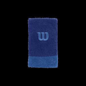 Punho de ténis ACC_W_ExtraWide_Wristband_MazarineBlue