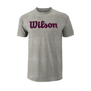 T-shirt Core_Script_Cotton_Tee_M_HeatherGray_PurplePotion