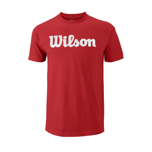 T-shirt Training_M_Core_Script_Cotton_Tee_WilsonRed_White