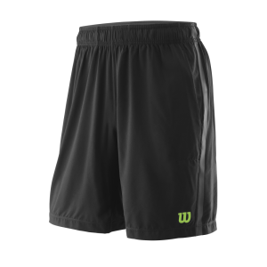 Calçoes de ténis Competition_M_UWII_Woven_8_Short_Mens_Black_BladeGreen