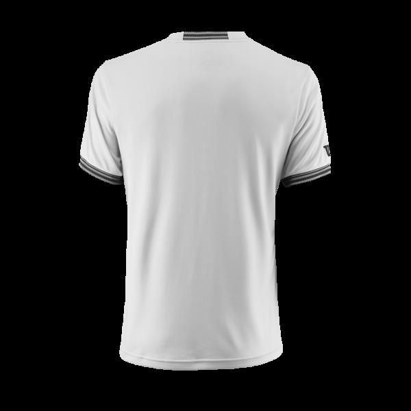 T-shirt de ténis Team M Solid Crew Mens White Black
