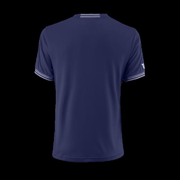 T-shirt de ténis Team M Solid Crew Mens BlueDepths White