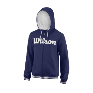 Team M Script FZ Hoody Mens BlueDepths White
