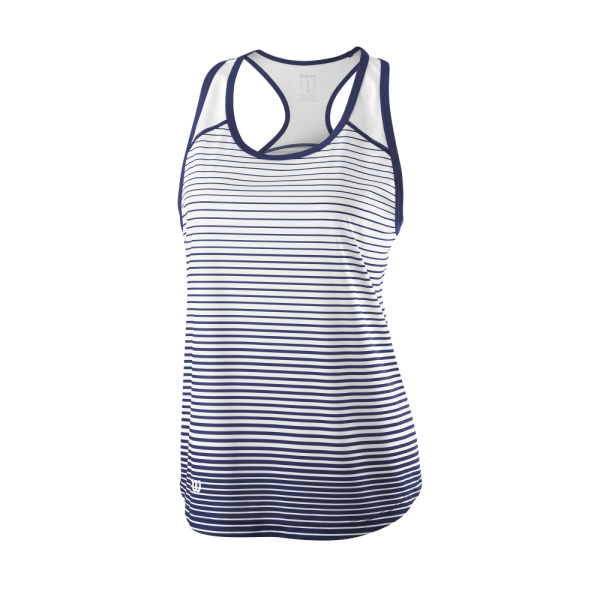 Top de ténis Team W Striped Tank Womens BlueDepths White