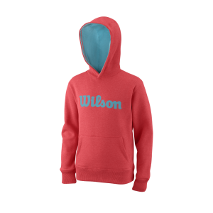 Wilson Training Y Script Cotton PO FieryCoral BlueCuracao