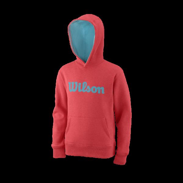 Wilson Training Y Script Cotton PO FieryCoral BlueCuracao