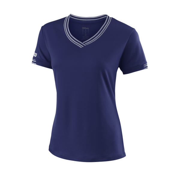 Team W VNeck Womens BlueDepths White