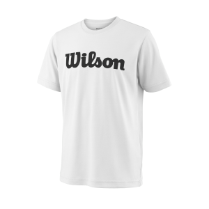 T-shirt Wilson TEAM SCRIPT TECH TEE White / Black