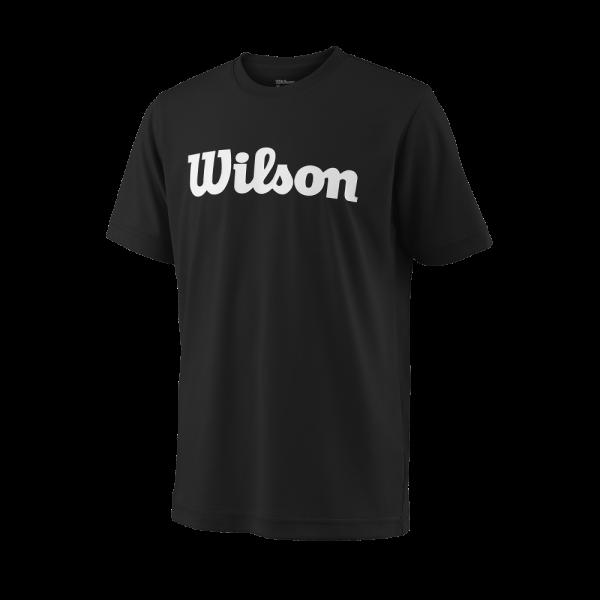 T-shirt Wilson TEAM SCRIPT TECH TEE White / Black