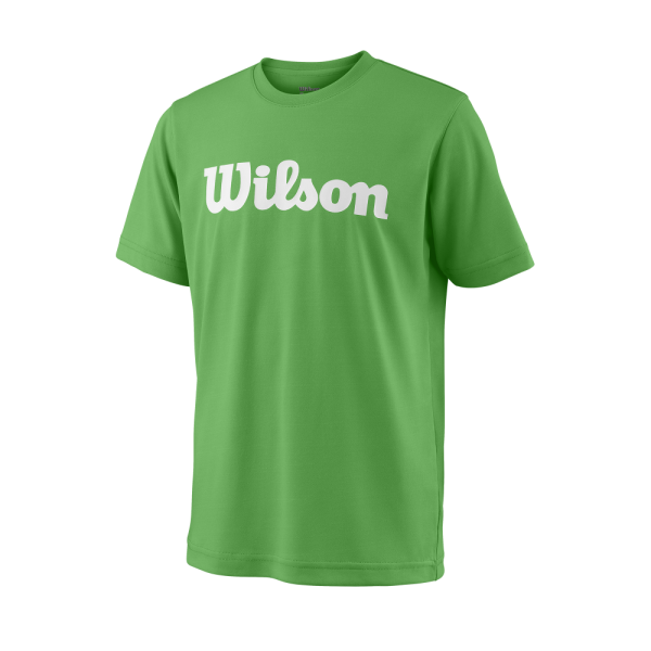 T-shirt Wilson TEAM SCRIPT TECH TEE AndeanToucan White