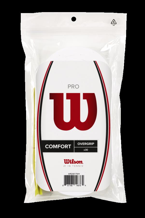 30 Wilson Pro Overgrip White