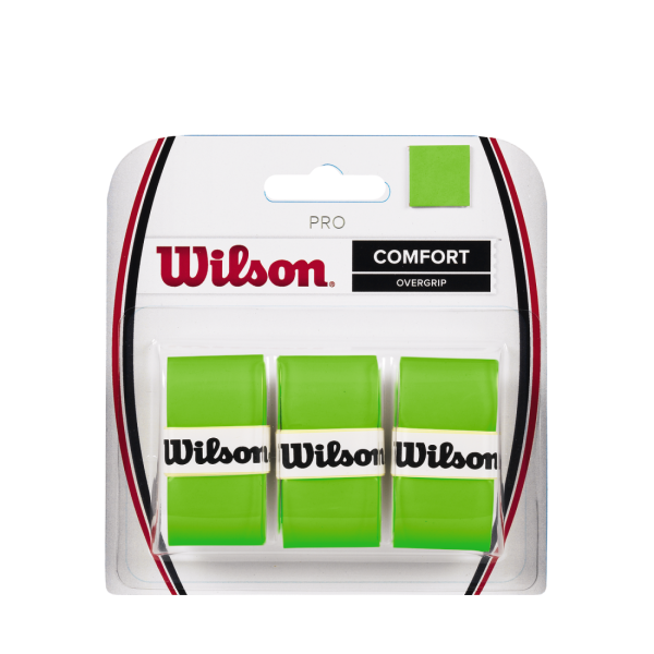 Wilson PRO OVERGRIP Green 3 Pack