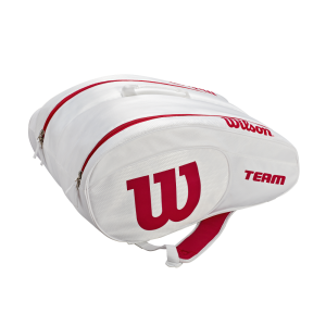 Mochila de ténis Wilson Team Padel Bag White/Red