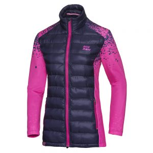 BIDI BADU Fara Tech Down Jacket PINK / DARK BLUE