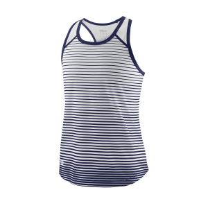 Wilson TEAM STRIPED TANK Blue Depths / White