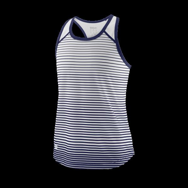 Wilson TEAM STRIPED TANK Blue Depths / White