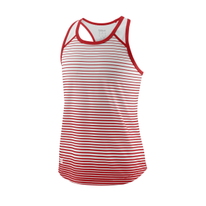 Wilson TEAM STRIPED TANK Red / White