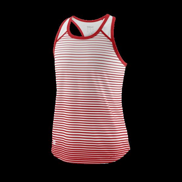 Wilson TEAM STRIPED TANK Red / White