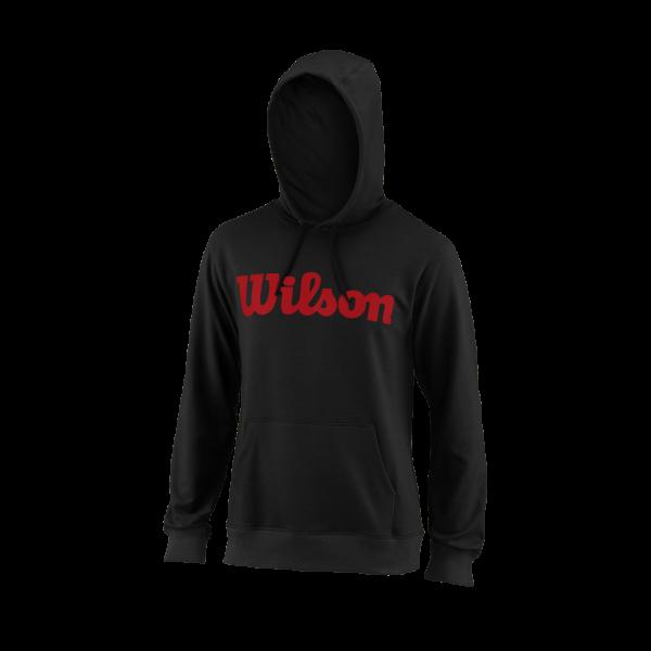 Wilson TEAM SCRIPT PO HOODY Black / Red