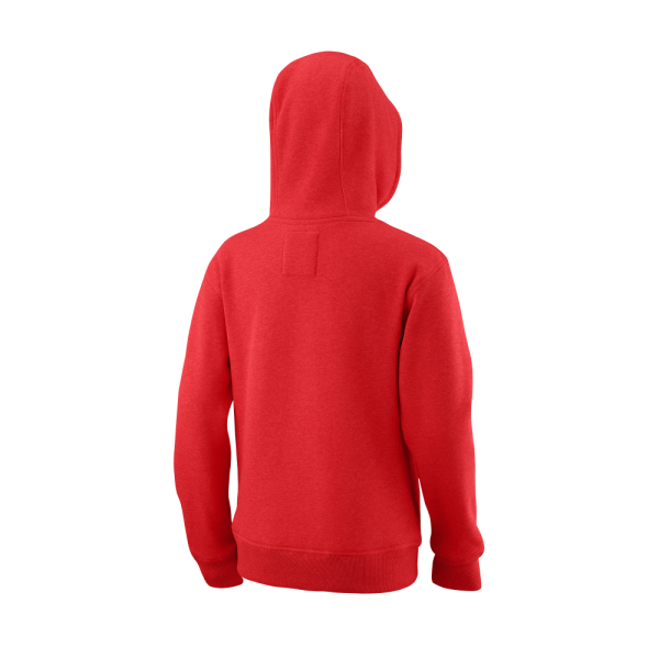 Wilson SCRIPT COTTON PO HOODY Red