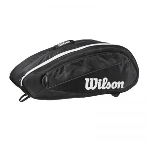 Wilson Federer Team 6 Pack Black / White