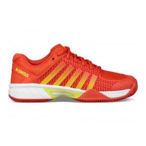 Tennis-Shoes-K-Swiss-Women-Express-Light-HB-Fiesta-White-Neon-Citron