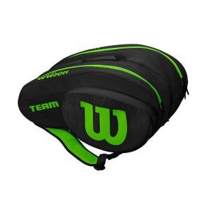 Wilson-Team-Padel-Bag-Black-Green