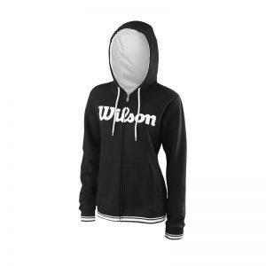 Wilson W Team Script FZ Hoody Bk/Wh