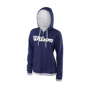 Wilson W Team Script FZ Hoody Blue