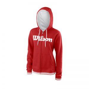 Wilson W Team Script FZ Hoody RD/Wh